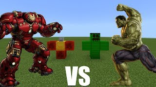 HULK vs HULKBUSTER in Minecraft PE (Pocket Edition)