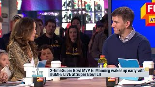 GMF Eli Manning on , Pat Shurmur, Fan Support, gives keys  on  Taking Down Tom Brady and The Pats