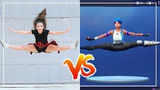 FORTNiTE DANCE CHALLENGE in REAL LiFE!! (Ft. The Rybka Twins)