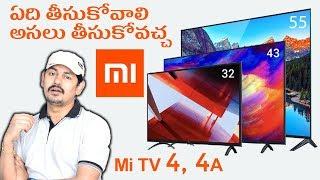 Xiaomi Mi TV 4 55in 4K and Mi TV 4A 43in and 32in ~ in Telugu ~ Tech-Logic