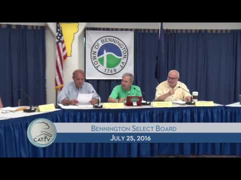 Bennington Select Board - 7/25/16