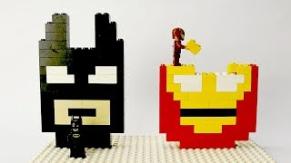 Lego Batman and Iron Man Brick Building Mosaics Superhero Fun Animation