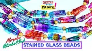 Stained Glass-tic Beads with Alcohol Inks