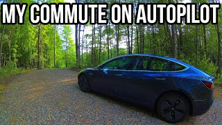 My Commute in the Tesla Model 3 Using Navigate on Autopilot