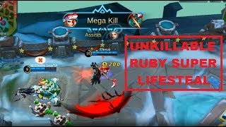 Ruby is Unkillable on Christmas Mode (Too Much Lifesteal) - Perfect Gameplay Mobile Legends