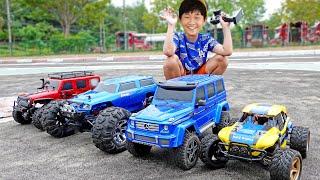 예준이의 자동차 장난감 레이싱 조종놀이 몬스터 트럭 경주놀이 Car Toy Racing with Monster Truck