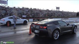 Tesla Model S Hustles NEW Corvette Z06 & Modded Hellcat