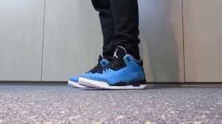 AIR JORDAN 3 RETRO POWDER BLUE ON FEET