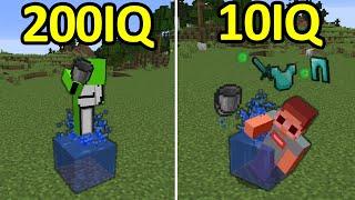 200IQ vs 10IQ Minecraft Plays #4
