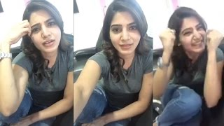 Actress Samantha First Live On Facebook | Q/A From Fans Live Chat |