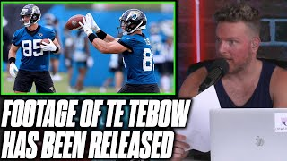 Pat McAfee Reacts To First Look At Tim Tebow Playing Tight End At Jaguars Practice