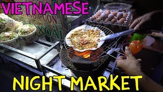 Vietnamese PIZZA! Mekong River Night Market in Can Tho VIETNAM
