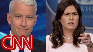 Anderson Cooper mocks Sarah Sanders' 'transparent' legacy