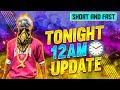 Free Fire Tonight 12am Updates In Telugu || Cobra Mp40 Return Back 🔥|| 12am Updates In Telugu
