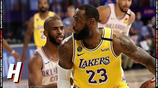OKC Thunder vs Los Angeles Lakers - Full Game Highlights | August 5, 2020 | 2019-20 NBA Season