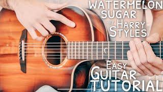 Watermelon Sugar Harry Styles Guitar Tutorial // Watermelon Sugar Guitar // Guitar Lesson #753