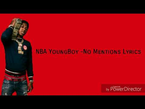 NBA YoungBoy - No Mentions(Lyrics)