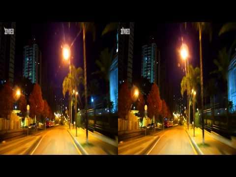 3D - Um novo passeio por Curitiba a noite - maio 2014