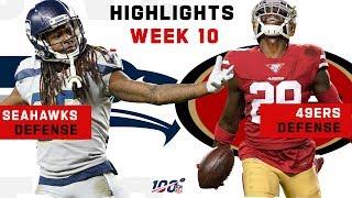 49ers & Seahawks Defensive Battle!   NFL 2019 Highlights