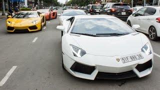 Dàn Lamborghini Diễu Hành, Đại Náo Quận 7 | XSX