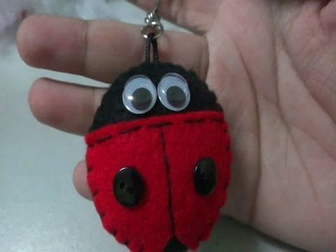 Tutorial: Ladybug Felt Keychain (video)