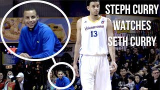 Steph Curry Watches Brother Seth Curry As A Santa Cruz WARRIOR