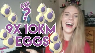 I CAN'T BELIEVE I HATCHED THIS RARE POKEMON...4 TIMES! 9X 10KM EGG HATCH POKEMON GO!