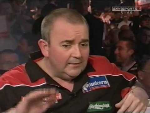 Phil Taylor left Fuming When Interviewed After Beating Mason 2007 Ladbrokes