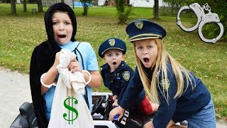 Cops and Robbers featuring the Assistant silly funny kids video with Sketchy Mechanic
