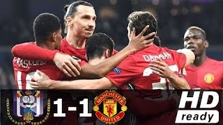 Anderlecht vs Manchester United 1-1 - All Goals & Extended Highlights - Europa League 13/04/2017 HD