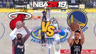 NBA 2K19  - '12-'13 Miami Heat vs. Golden State Warriors -  Full Gameplay (1080P 60FPS HD!)