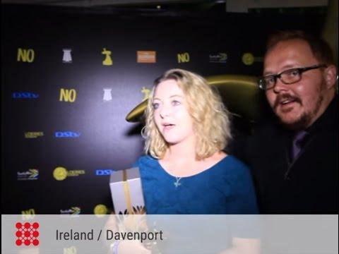 Ireland/Davenport after winning gold for The Dress - Loeries 2015