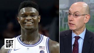 Zion is a 'huge star,' R.J. Hampton playing in Australia makes me 'jealous' - Adam Silver | Get Up!