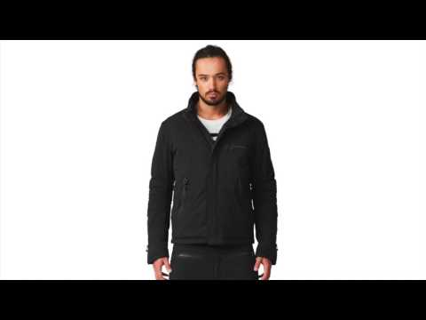 SOS X Biker Mens Ski Jacket in Black