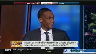 NBA Countdown: Rajon Rondo On Lakers Dysfunction; Impact of Turmoil on Players