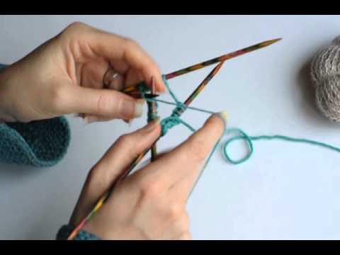 comment tricoter avec des aiguilles double pointe