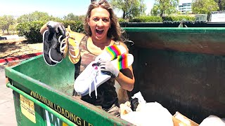 DUMPSTER DIVING- SHE'S SAVING WHAT BIG CORPORATE STORES THROW AWAY