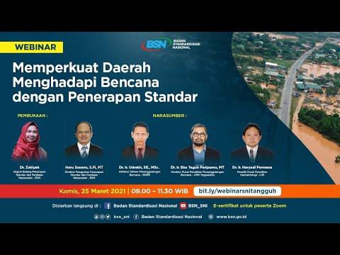 https://www.youtube.com/watch?v=5jwFVVzRBvsMemperkuat Daerah Menghadapi Bencana dengan Penerapan Standar