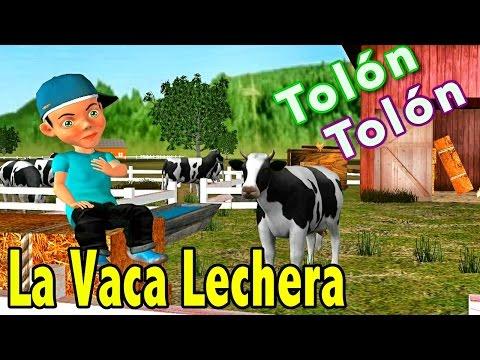 La Vaca Lechera - Canciones Infantiles de la Granja del Abuelo - Videos Educativos para Niños #