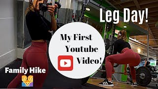 My First Youtube Video! LEG DAY