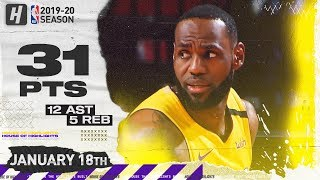 LeBron James 31 Pts 12 Ast Full Highlights | Lakers vs Rockets | January 18, 2020