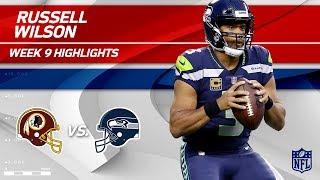 Russell Wilson's 374 Total Yards & 2 TDs vs. Washington | Redskins vs. Seahawks | Wk 9 Player HLs