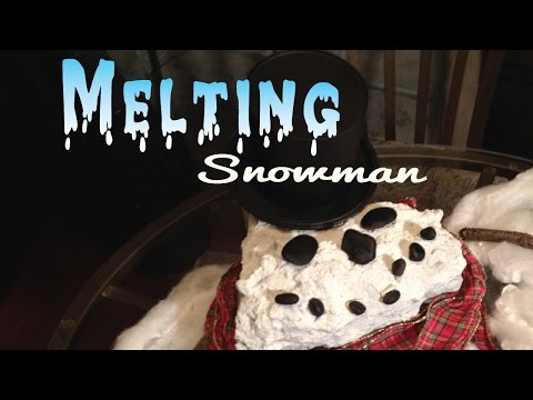 DIY Melting Snowman