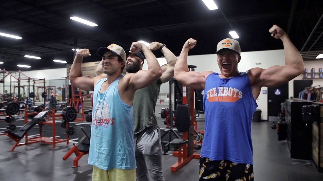 Training NELK BOYS and STEVE WILL DO IT to make GAINZ