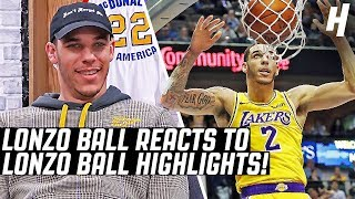Lonzo Ball Reacts To Lonzo Ball Highlights | The Reel