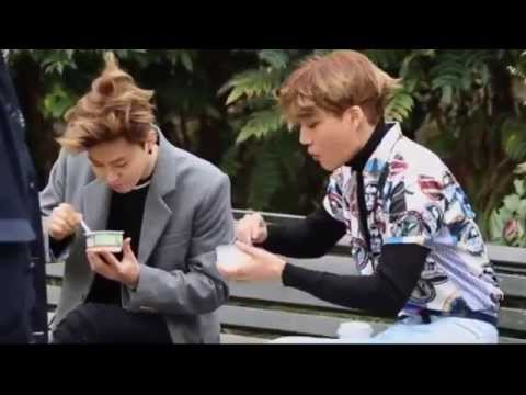 EXO Kai sharing his food with Suho
