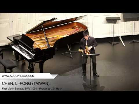 Dinant 2014 - CHEN, Li-Fong (First Violin Sonata, BWV 1001 - Presto by J.S. Bach)