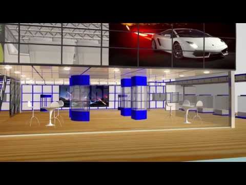 Automobile online 3d virtual tradeshow booth image