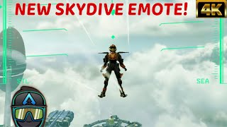 """New Apex Legends Valkyrie Showing Off SkyDive Emote In Game With Legendary Birthright Skin! """" #4K"""