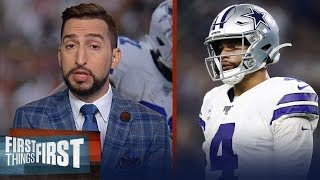 Cowboys have moderately underachieved so far this season — Nick Wright | NFL | FIRST THINGS FIRST